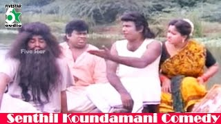 Goundamani And Senthil Hair Cutting Comedy From Rakkayi koyil