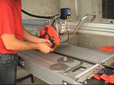 RUBI DS 250 Cortadora eléctrica para porcelanico gres marmol Electric Saw for porcelain marble