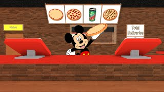 Mickey Mouse plays   ROBLOX Work at a Pizza Place