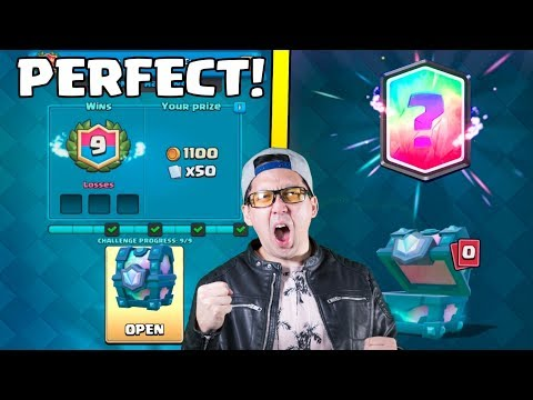 PERFECT 9 WINS! LEGENDARY CHEST OPENING :: Clash Royale :: 2v2 DOUBLE ELIXIR DRAFT CHALLENGE!
