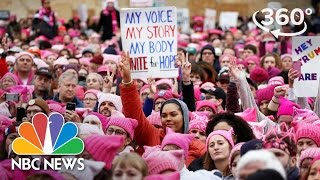 Hundreds Of Thousands March For Women In Washington | 360 Video | NBC News