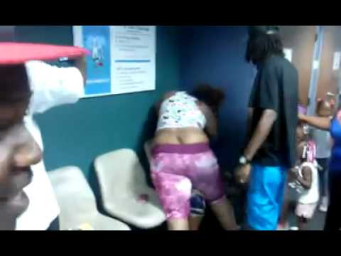 Ghetto fight at the food stamp office in Mn