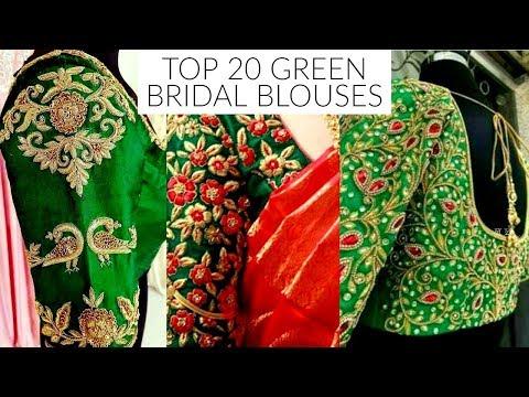 Xxx Mp4 TOP 20 GREEN Bridal Blouses 3gp Sex