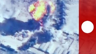 Aerial footage: Jordan targets ISIL with airstrikes in Syria and Iraq