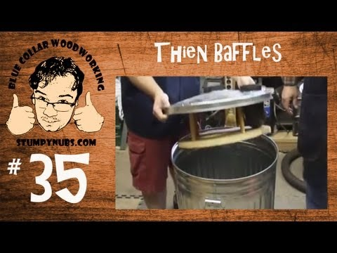 Thien Baffle & Wynn Filter for upgrade Harbor Freight Dust Collector Woodworking with Stumpy Nubs 35