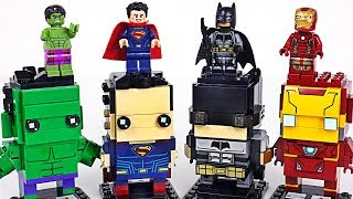 Lego BrickHeadz DC Justice League Batman, Superman vs Marvel Avengers Hulk, Iron Man - DuDuPopTOY