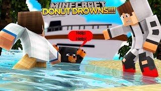 Minecraft - Donut the Dog Adventures -DONUT DROWNS IN THE SEA!!!!
