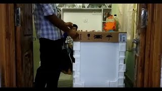 * Bosch Dishwasher Unboxing * Bosch SMS60L 12IN Free Standing 12 Place Settings Dishwasher Unboxing