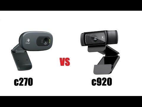 LOGITECH C920 v C270 WEBCAMS Unboxing & Review