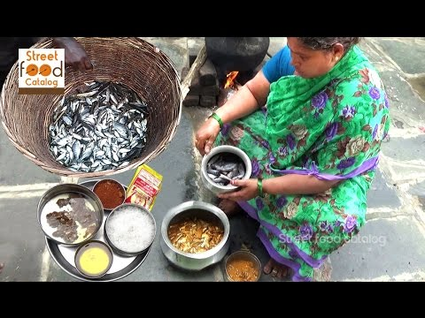 How To Cook Small Fish Curry || Country Fish Curry Village Style || Fish Fry || Street Food Catalog