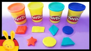 Die Formen auf deutsch auf kindgerechte Weise lernen - Play-Doh - Titounis