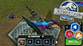 New Dino Eudimorphodon Level Max 40! JURASSIC WORLD THE GAME