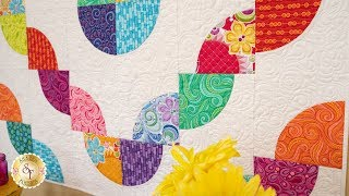 How to Make a Drunkard's Path Block Using the Slit 'N Sew Template | a Shabby Fabrics Tutorial