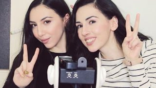 ASMR Trigger Game ~ Crazy Sisters  ~ Asmr Ear to Ear Whisper, Mouth Sounds, Kissing, Ear Blowing