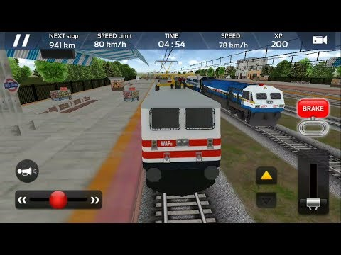 Rajdhani Express Borivali to Ahmedabad | Train Engine - WAP 5 | Indian Train Simulator 2018 - Free