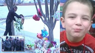 Cops Lay Wreath At Icy Pond Where 6-Year-Old's Body Was Discovered