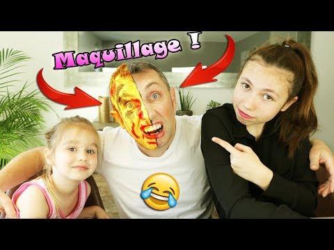 Xxx Mp4 CHALLENGE MAQUILLAGE Qui D Ellie Ou Lana Maquillera Le Mieux Papa Clown Joker 3gp Sex