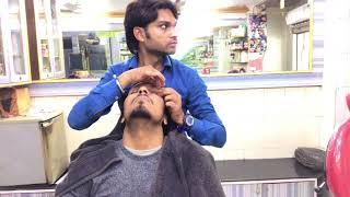 ASMR Indian Barber Relaxing Head Massage With Special Back Massage By (Mohammed Javed)Episode#17