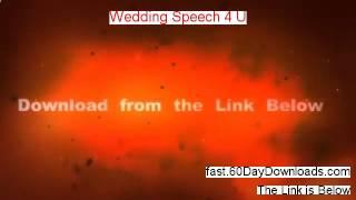 Wedding Speech 4 U review with download link