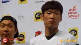 Running Man & Park Ji Sung at Press Conference Asian Dream Cup 2014 in Indonesia