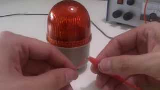LED converted industrial warning lamp, 5 x CREE XR-C, 50% current