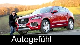 Jaguar F-PACE S V6 380 hp FULL REVIEW test driven 2017 - Autogefühl