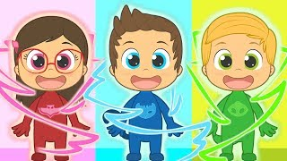 Five Little Babies with PJ Masks | Connor, Amaya and Greg | Nursery Rhymes for kids