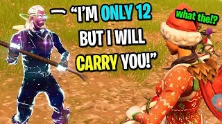 This 12 year old kid is the best Fortnite player I EVER met... (not clickbait)