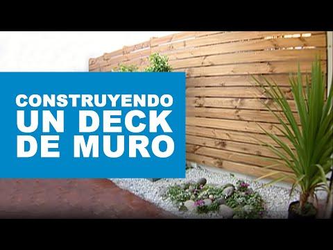 ¿Cómo construir un deck de muro