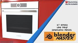 blender speed modeling x7 - bosch oven (download link)