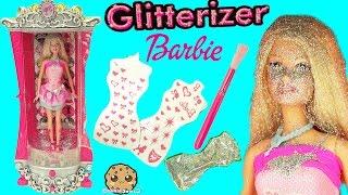 Glitterizer Machine Playset , Barbie Glitter Fashion Style Makeover - Cookieswirlc Unboxing Video