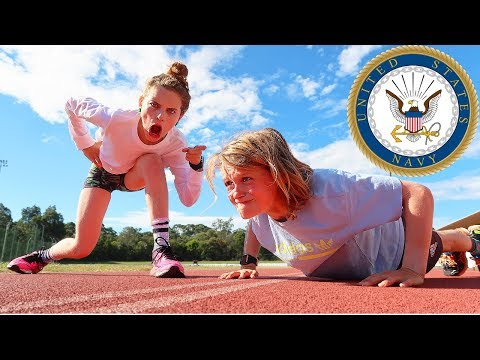 KIDS TAKE THE US NAVY FITNESS TEST w The Norris Nuts