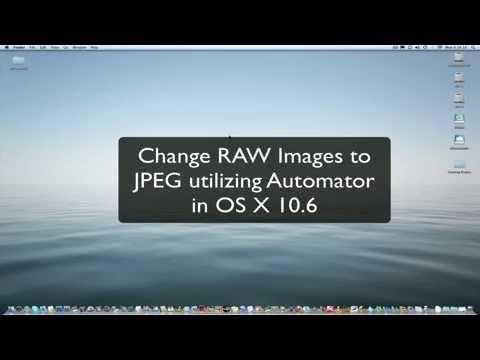 OS X Automated RAW Image Type Conversion