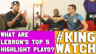 What Are LeBron James Top 5 Highlight Plays ? | Hoops N Brews