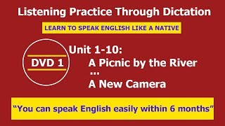 Listening practice through dictation 1 Unit 1-10 - listening English - LPTD -  hoc tieng anh