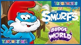 Cмурфики - мультики игры для детей - Смурфы - Играем в Budge World #смурфики #смурфы #играем