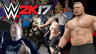 Brock Lesnar vs Roman Reigns | WWE 2K17 | Couldn't Wait For The Full Game To Install!!