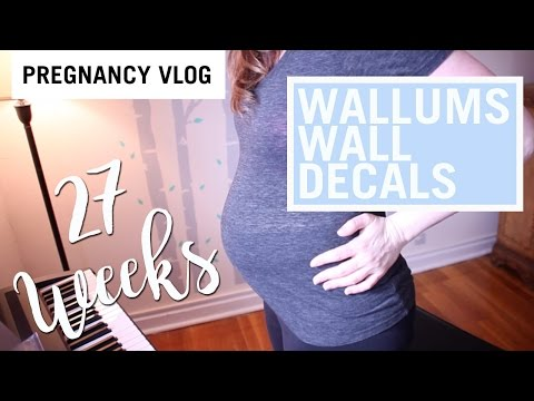 40 and Pregnant   27 WEEKS   BIRTH PLAN   WALLUMS WALL DECALS