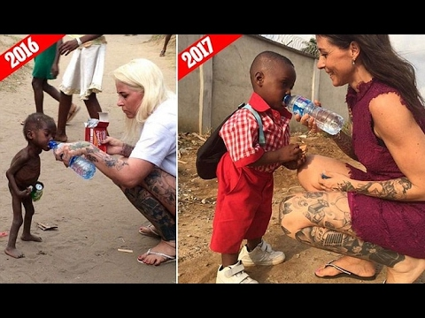 Starving child who was left for dead by his parents who thought he was a WITCH is full.
