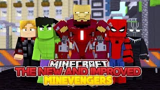 THE NEW AND IMPROVED MINEVENGERS - IRON MAN - MINECRAFT ADVENTURE