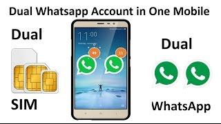 Dual WhatsApp Accounts in Dual SIM Android Mobile