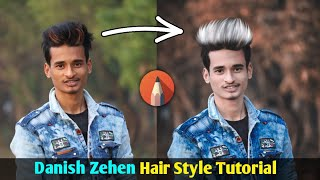 Danish Zehen Hair Style Editing Tutorial || Stylish Hair Design in Autodesk Sketchbook || SK EDITZ