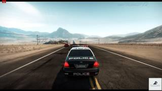 Need For Speed Hot Pursuit (2010) - Boulder Desert - Chase IOI (SCPD) 720p PC Gameplay with FPS
