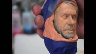 painting a 1/4 scale sideshow Robert downey jr face