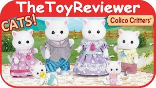 Calico Critters Persian Cat Family Baby Twins Sylvanian Figure Unboxing Toy Review by TheToyReviewer