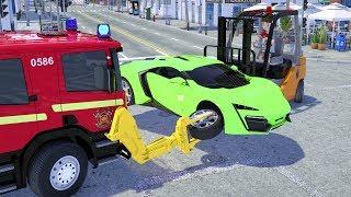 Fire Truck Trank Change Sport Car