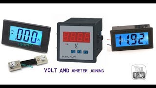 How to connect volt and ameter in a circuit