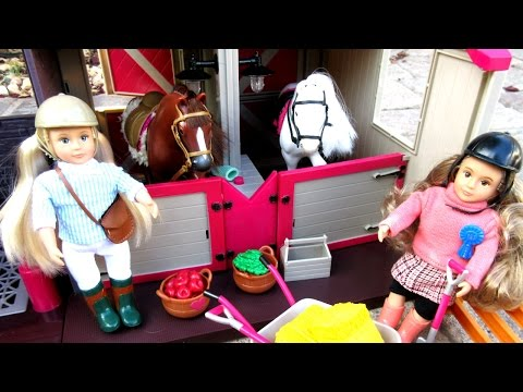 LORI HORSE STABLE, Dolls & Horses By Our Generation Unboxing!