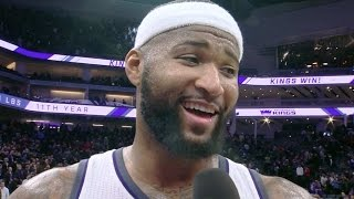 Joel Embiid vs DeMarcus Cousins! Funny Post Game Interview 76ers vs Kings