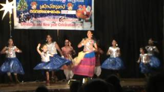 Penrith Malayalee Christmas Program 2012 - nee varum pothu (mazhai) group dance